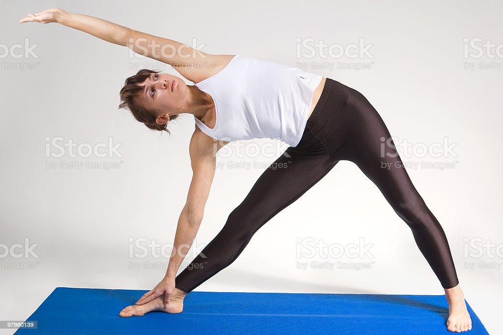 yoga girl royalty-free stock photo