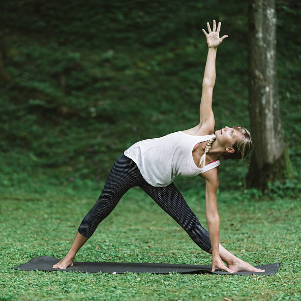 Best Half Moon Pose Yoga Stock Photos, Pictures & Royalty ...