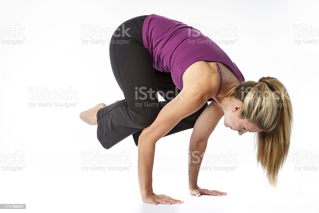 Yoga Handstand royalty-free stock photo