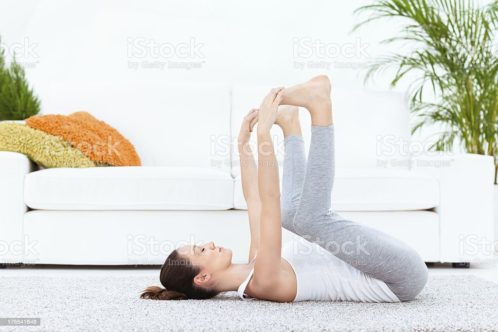 Yoga - Happy Baby stock photo