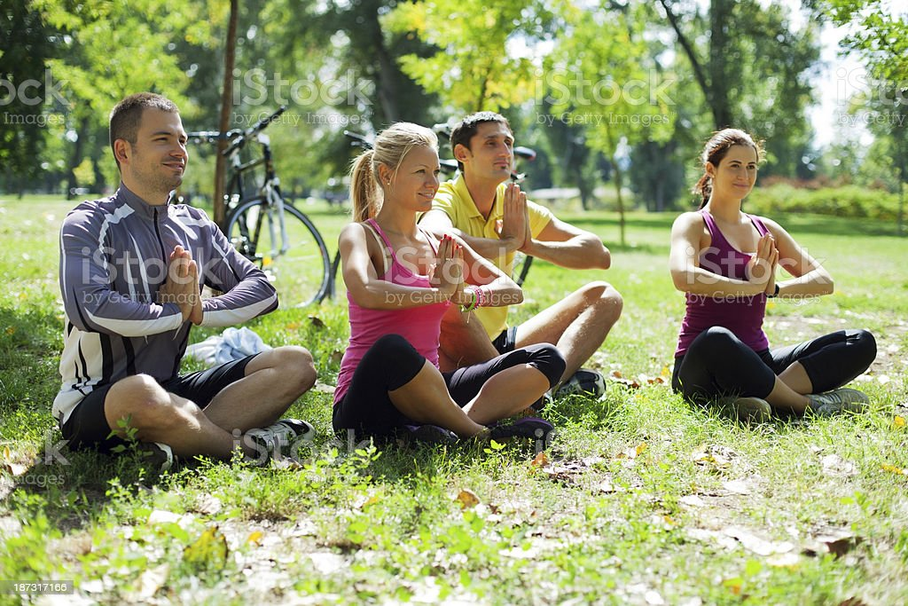 Yoga in nature royalty-free stock photo