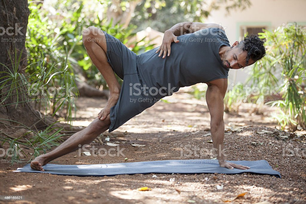 Yoga in nature. - Royalty-free Adult Stock Photo