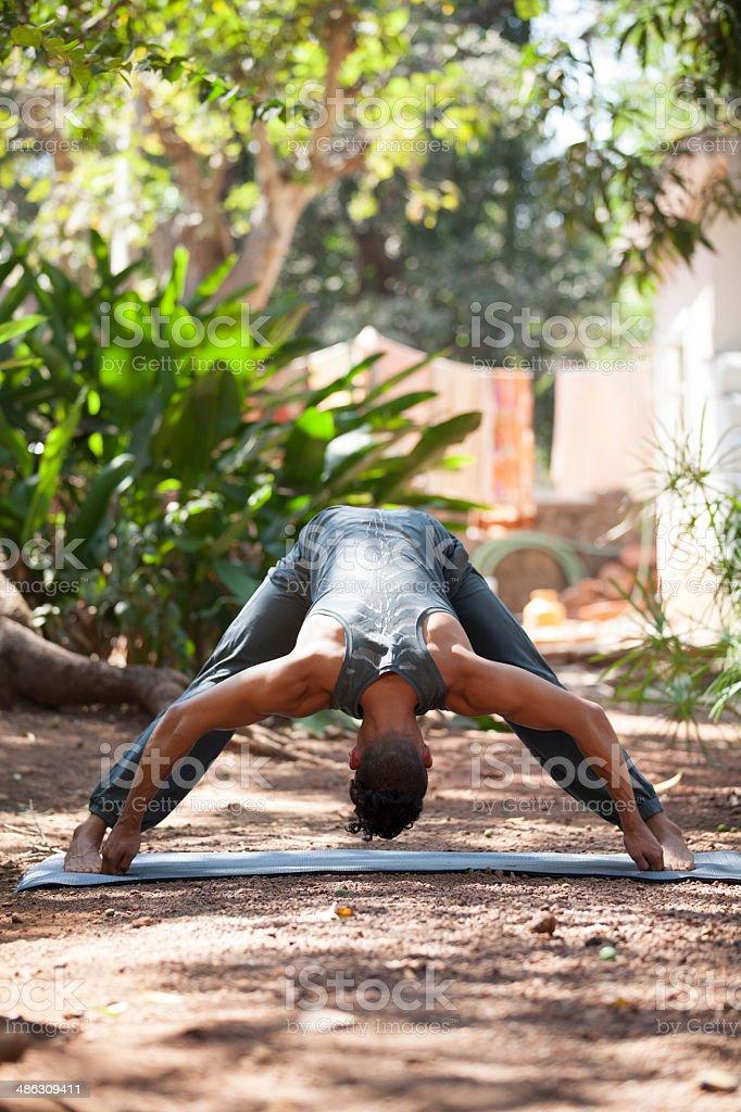 Yoga in nature. stock photo