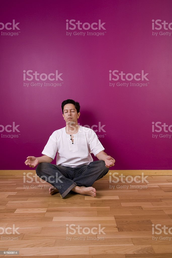 yoga indoor royalty-free stock photo