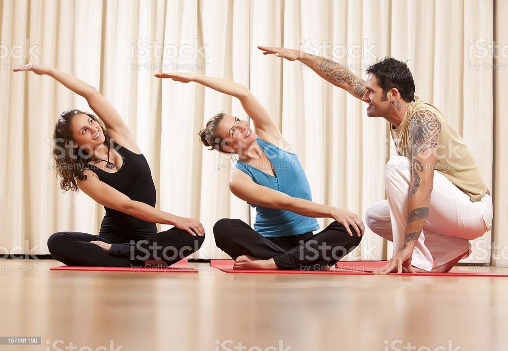 Yoga instruction stock photo
