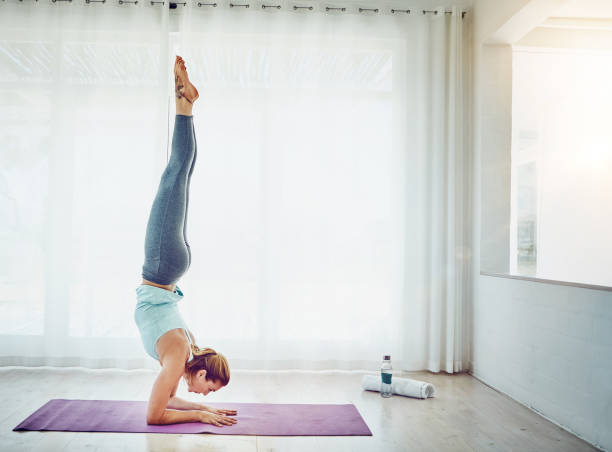 Yoga is a way to freedom stock photo