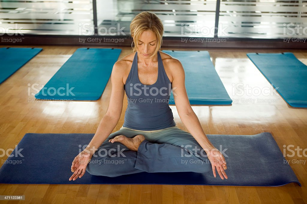 yoga lotus health club fitness royalty-free stock photo