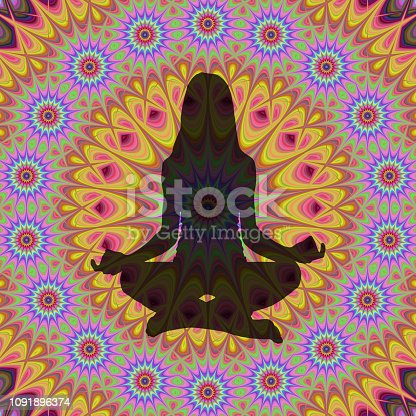istock yoga lotus poses 1091896374
