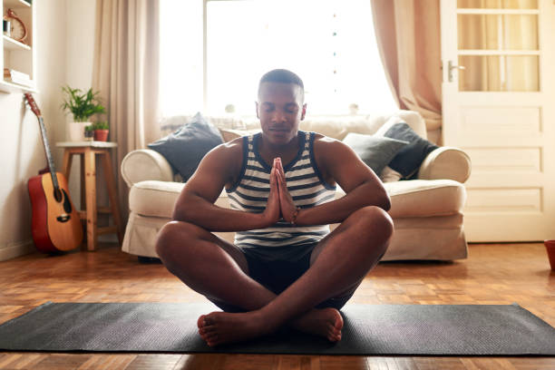 Yoga made me a better person stock photo
