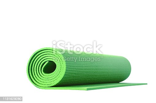 yoga mat isolated on white background