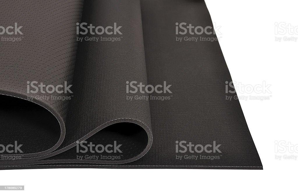 yoga mat stock photo
