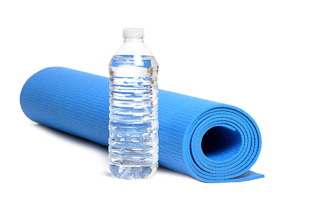 Yoga Mat Water stock photo