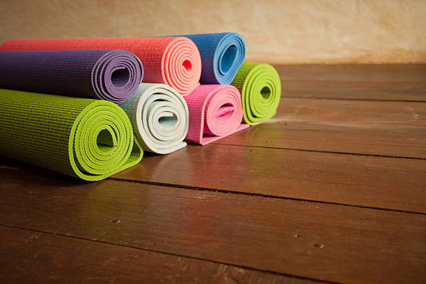 Yoga Mats stock photo