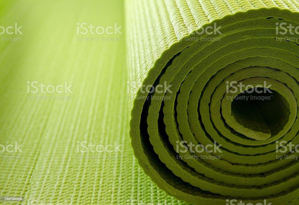 yoga mattress stock photo