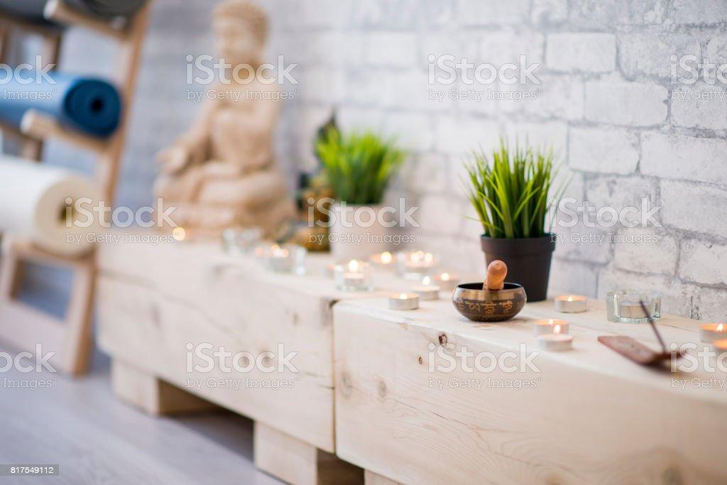 Yoga & Meditation Class Decor stock photo