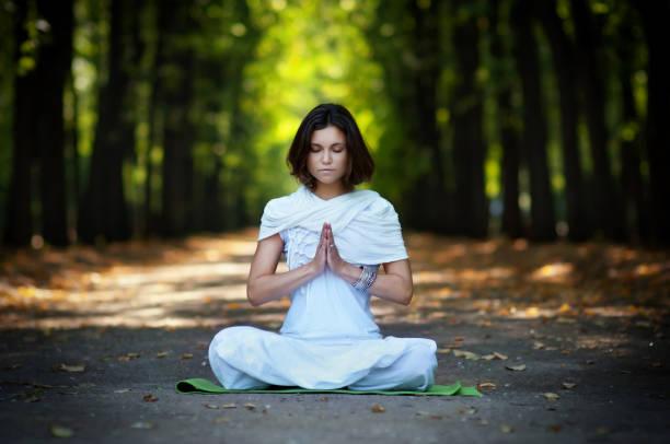 Yoga meditation stock photo