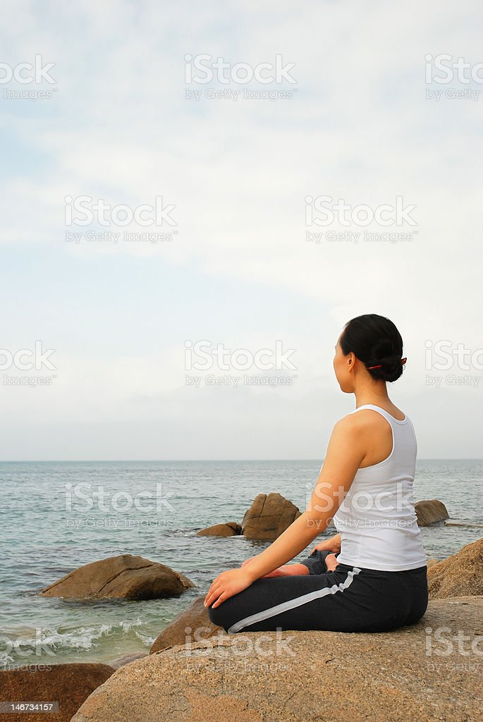 Yoga meditation royalty-free stock photo