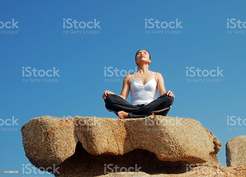 Yoga meditation royalty-free stock photo