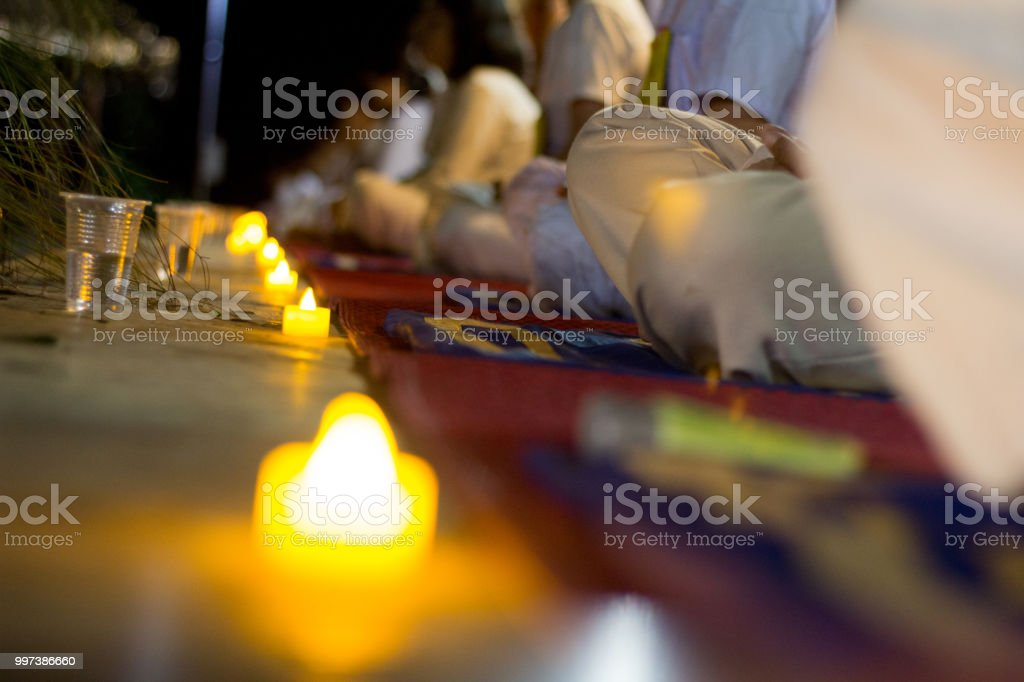 Yoga Meditation Youth Group,Thai Dhamma School. stock photo