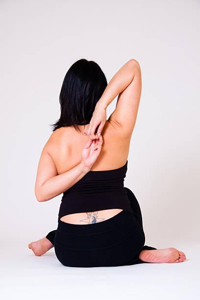 yoga - buddhist tattoos stock-fotos und bilder