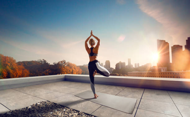 Yoga. Yoga woman. Young woman doing yoga in morning. yoga instructor stock pictures, royalty-free photos & images