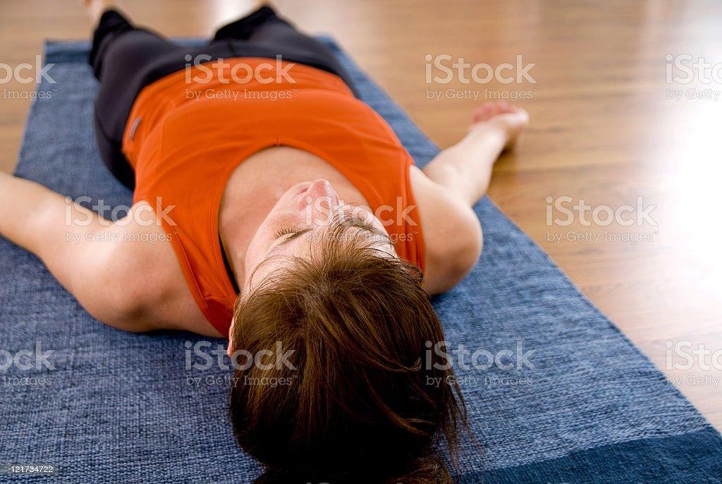Yoga (Savasana) royalty-free stock photo