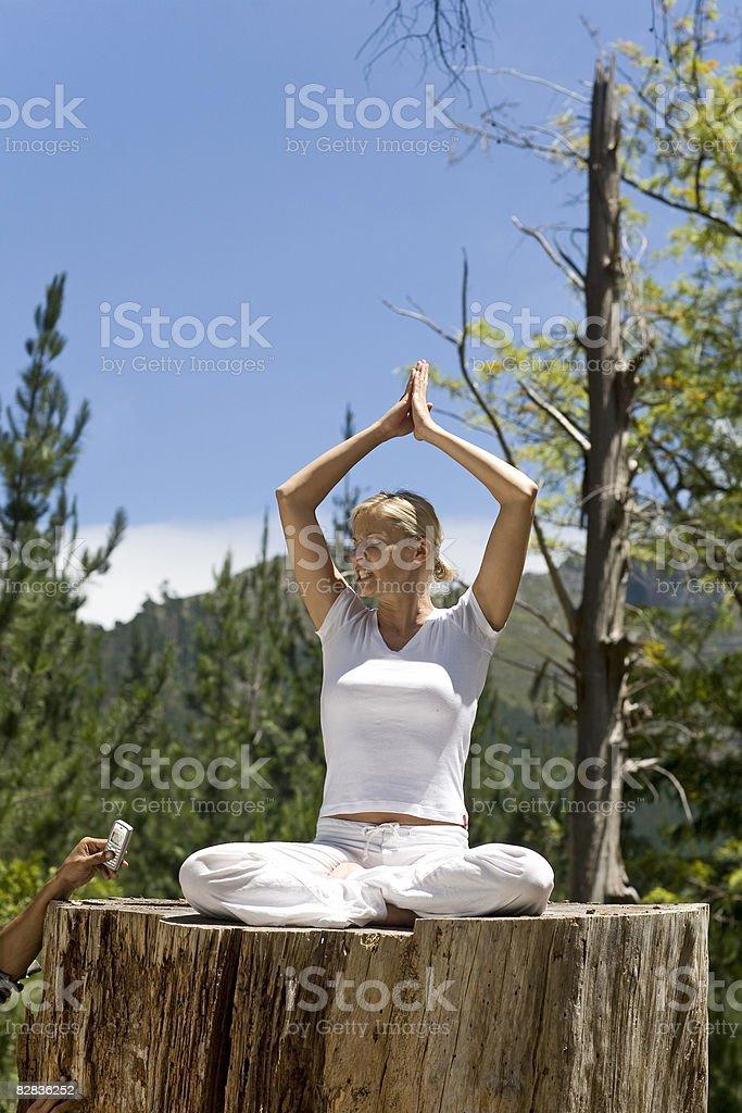 Yoga royaltyfri bildbanksbilder