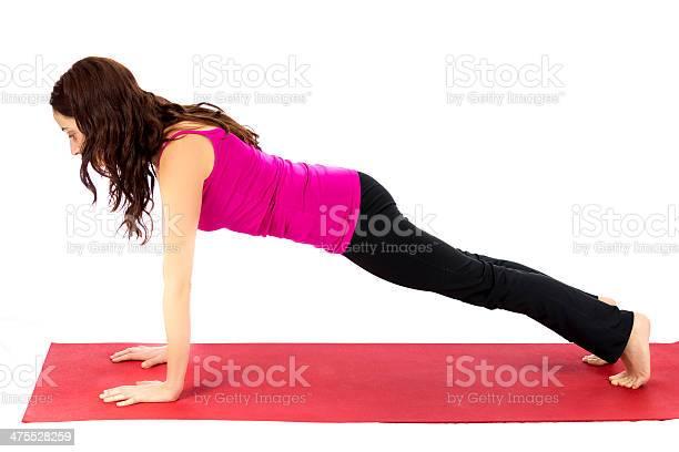 Yoga Pose Tablón Foto de stock y más banco de imágenes de 30-34 años