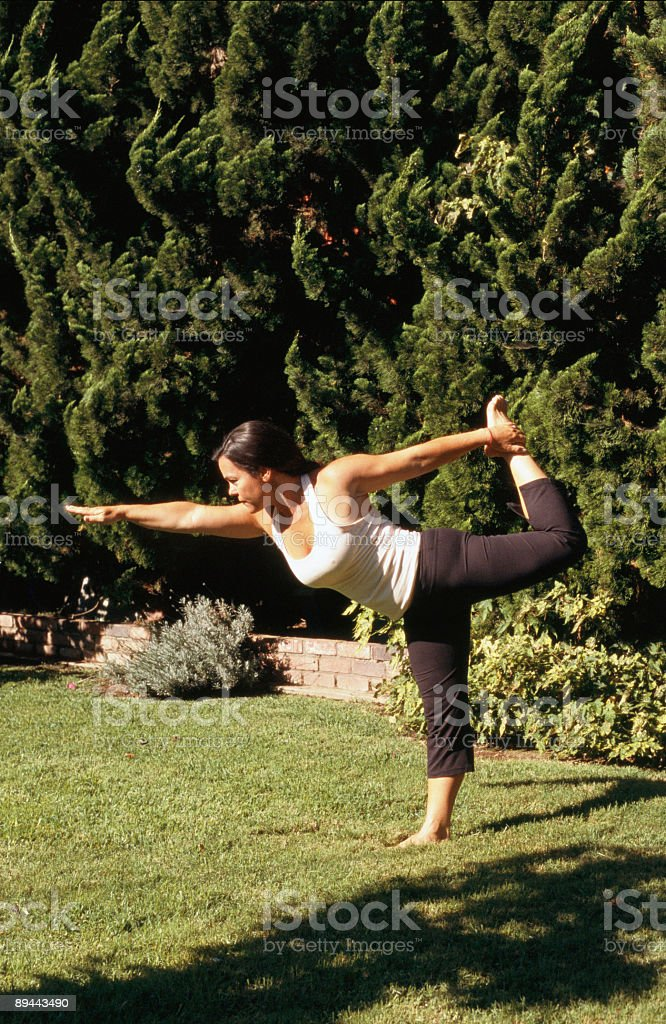 Yoga Pose Dancer Natararsana royalty-free stock photo