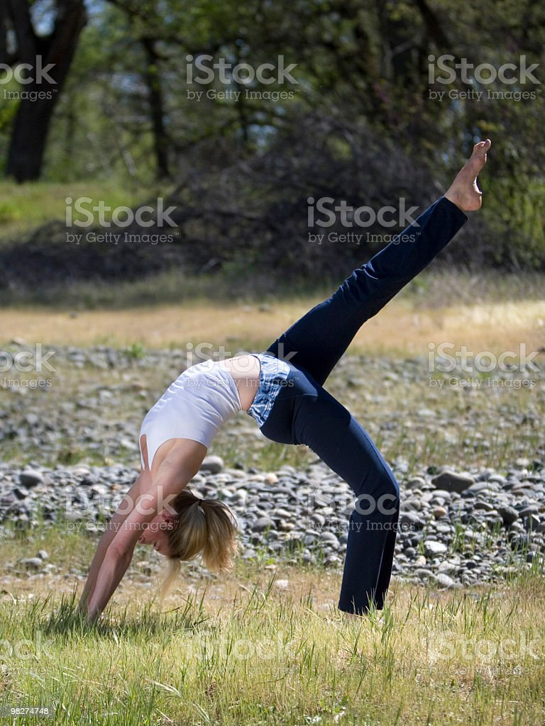 Yoga Pose in nature royalty-free stock photo
