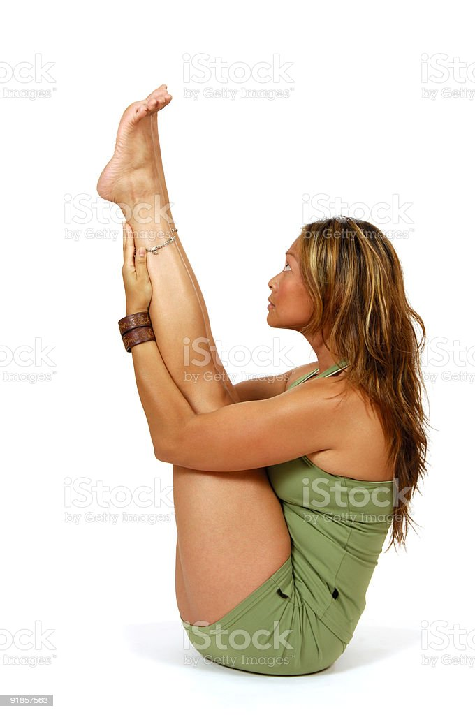 Yoga Pose Legs Up royalty-free stock photo