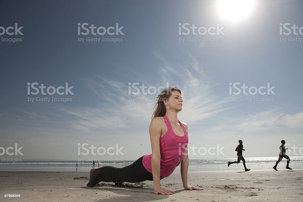 Yoga Pose royalty free stockfoto