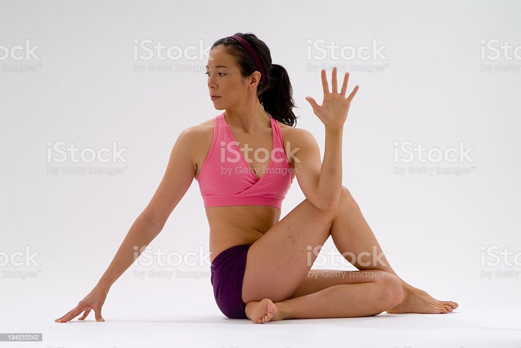 yoga position3 royalty-free stock photo