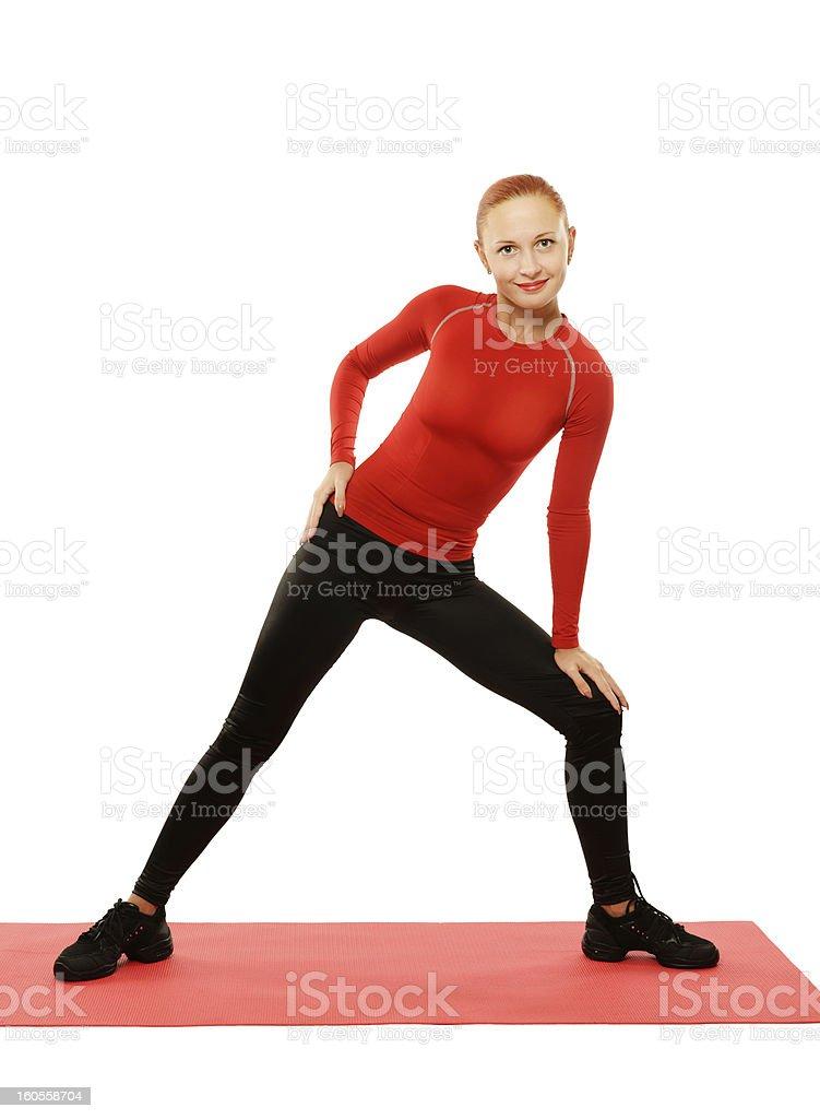 Yoga practice. Woman doing asana royalty-free stock photo