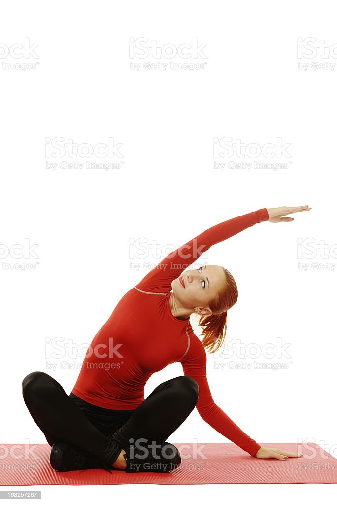 Yoga practice. Woman doing asana royalty-free stock photo