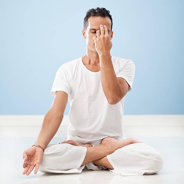 Yoga: Pranayama stock photo