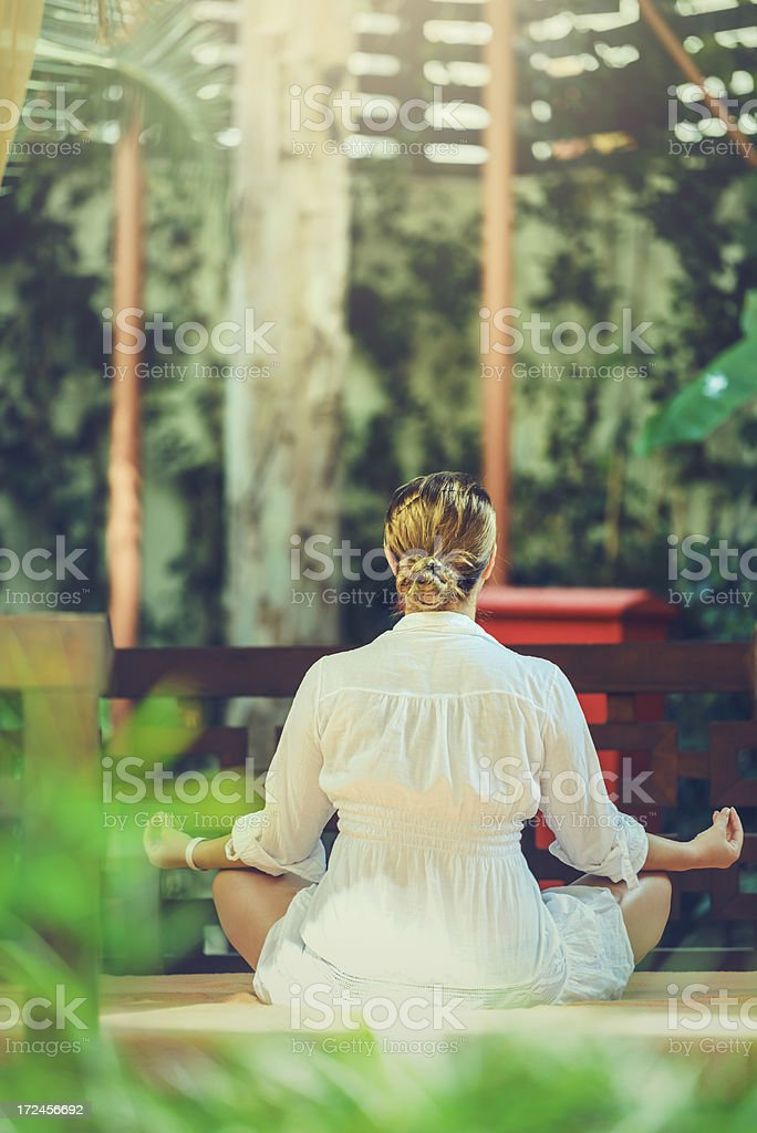 yoga relax royalty-free stock photo