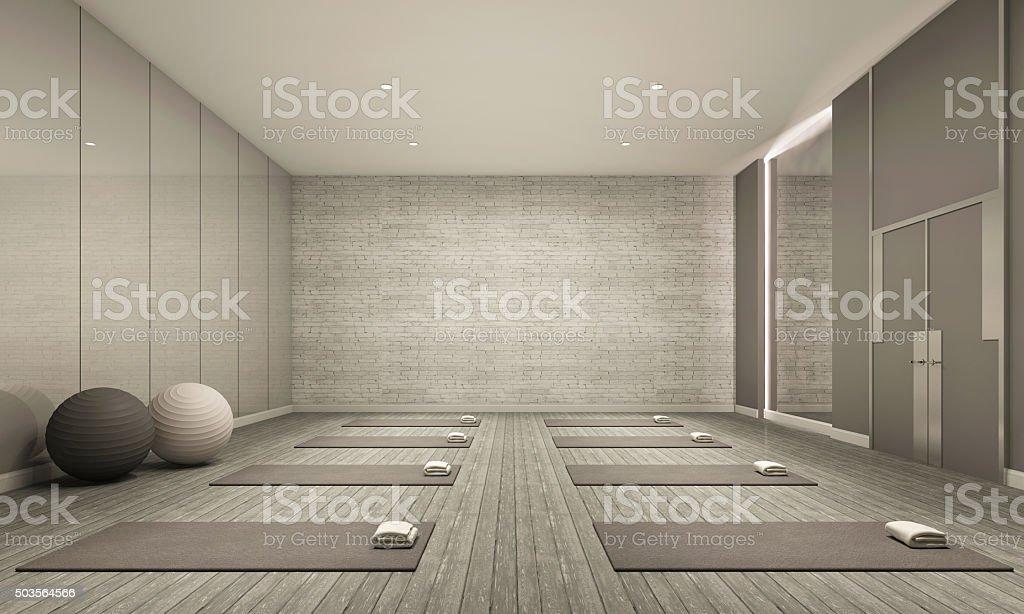 Sala de yoga - foto de stock