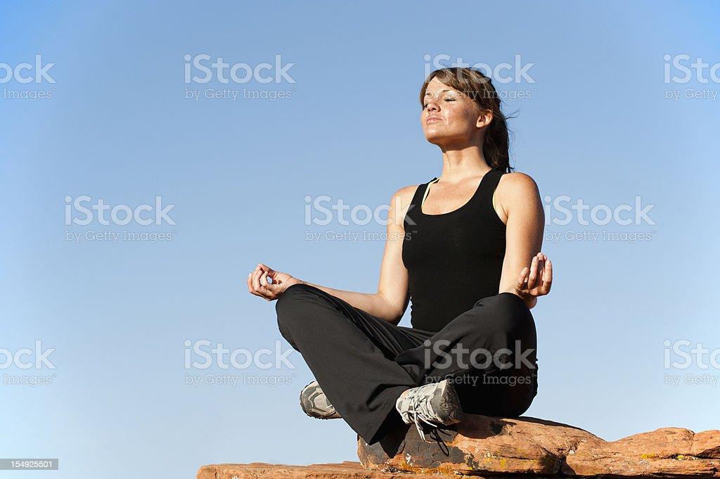 Yoga Serenity Now stock photo