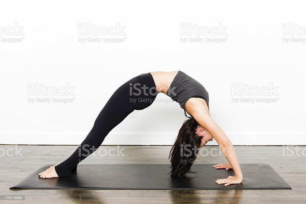 Yoga Series -  Back Bend stock photo