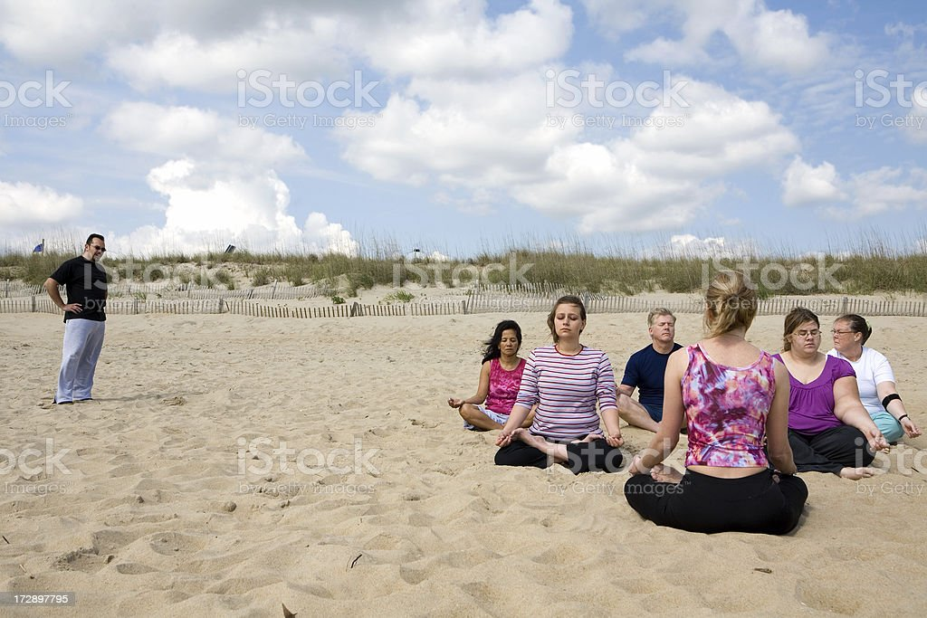 Yoga Series: Real Women royalty-free stock photo