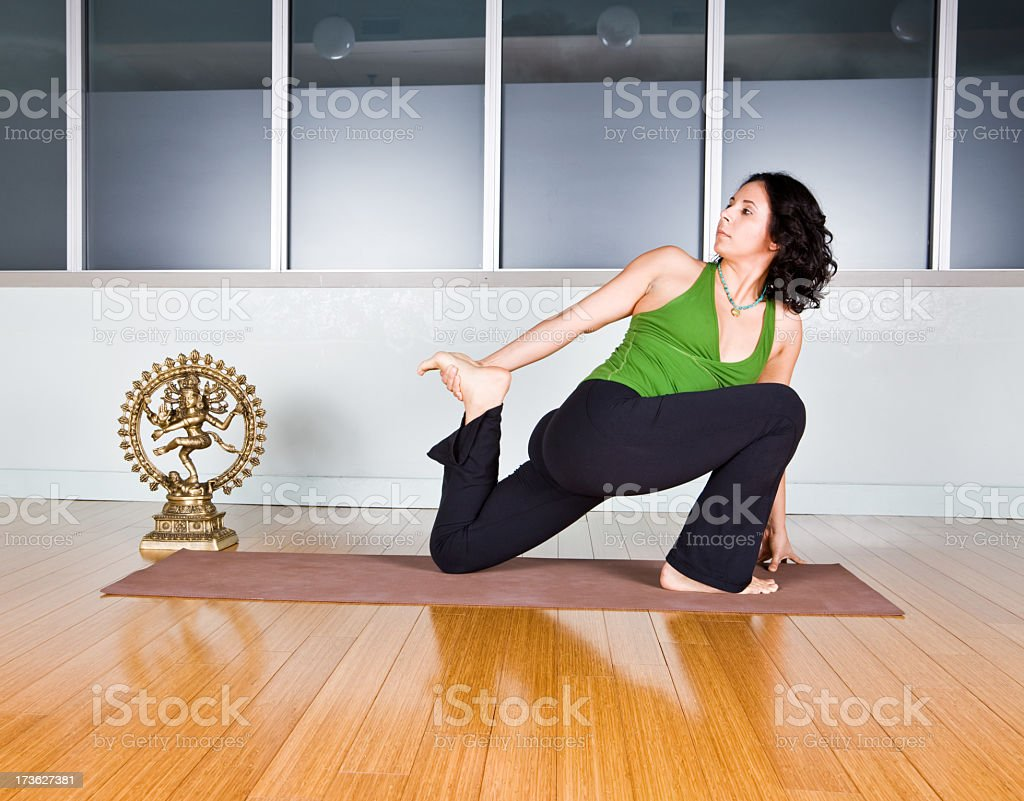 Yoga stretch royalty-free stock photo