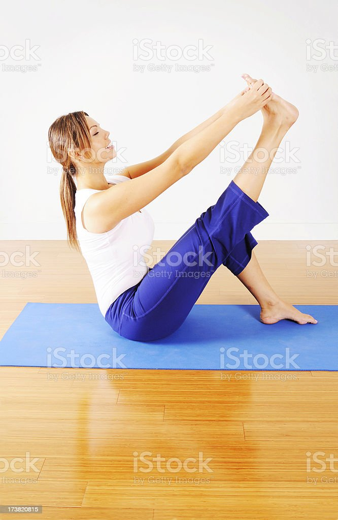 Yoga Stretch royalty-free stock photo