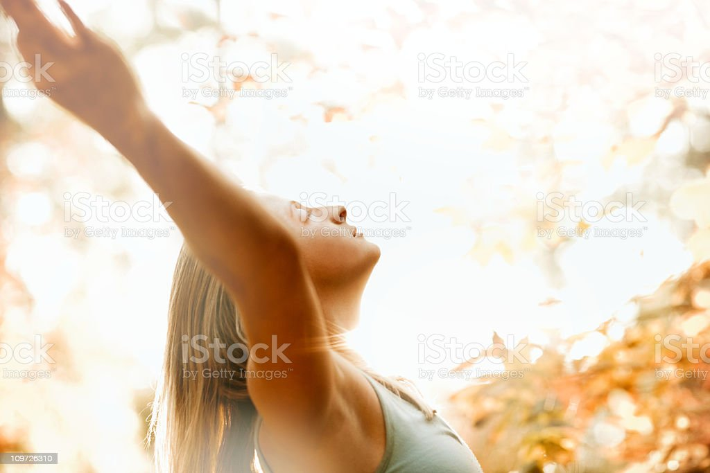 Yoga Stretching Outdoors royalty-free stock photo