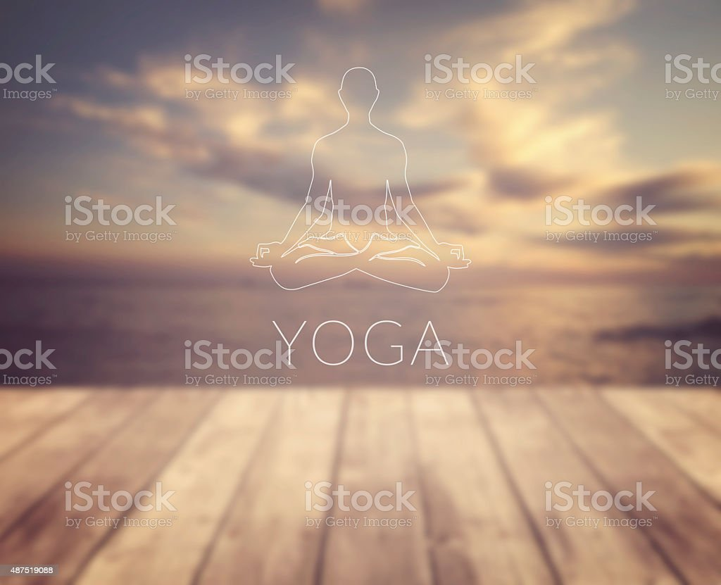 Yoga symbol stock photo