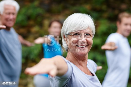 istock Yoga takes me to my happy place 466728444