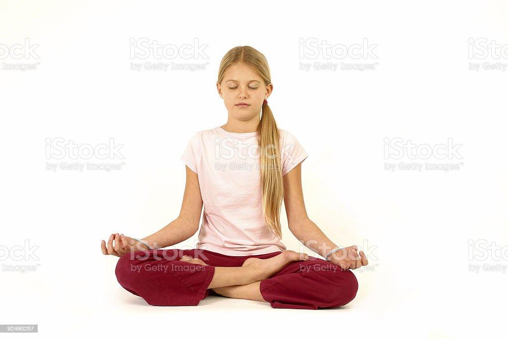 yoga time royalty-free stock photo