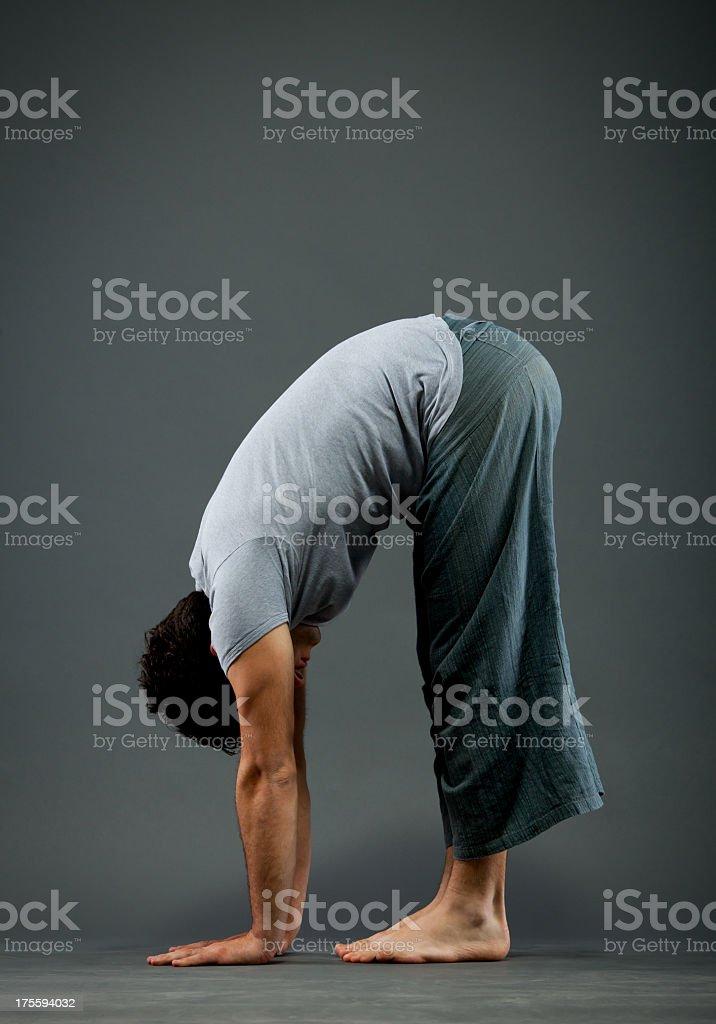 Yoga - Uttanasana stock photo