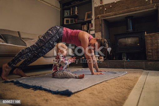 istock Yoga With Mum 656631166