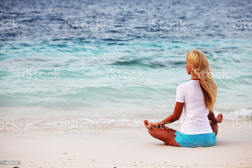 yoga woman royalty-free stock photo